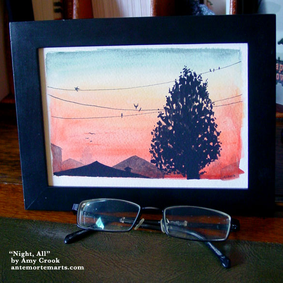 Night, All, framed art by Amy Crook