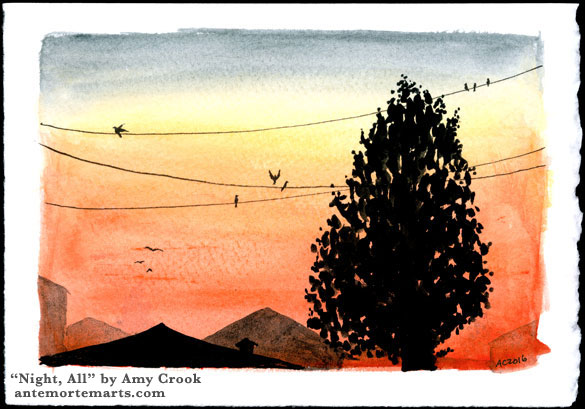 Night, All, sunset painting by Amy Crook
