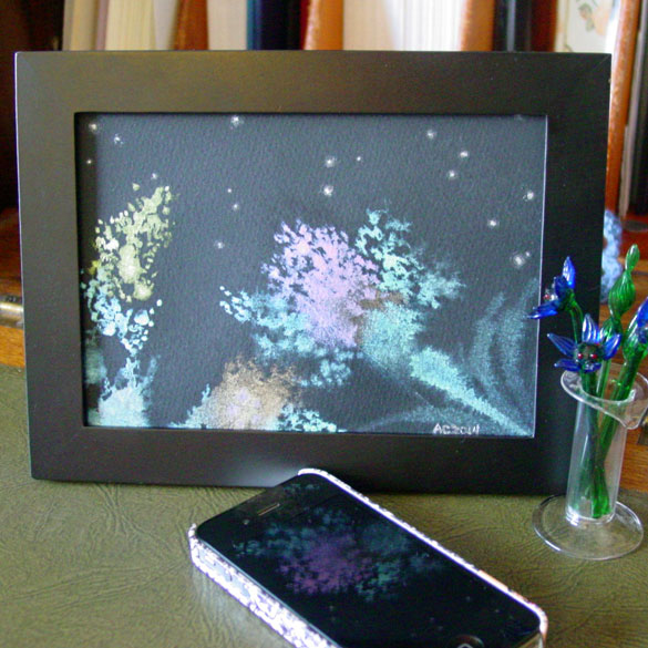 Night Blooming, framed art by Amy Crook