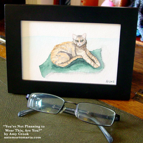 You're Not Planning to Wear This, Are You?, framed art by Amy Crook