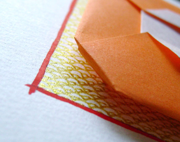 O is for Origami, detail, by Amy Crook