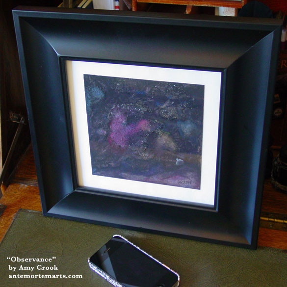 Observance, framed art by Amy Crook