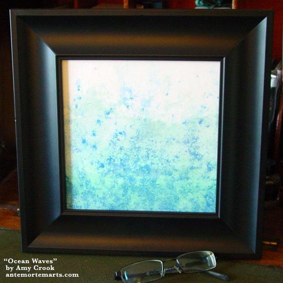 Ocean Waves, framed art by Amy Crook