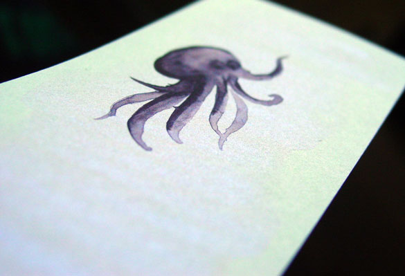 Octopus Bookmark 1, detail, by Amy Crook