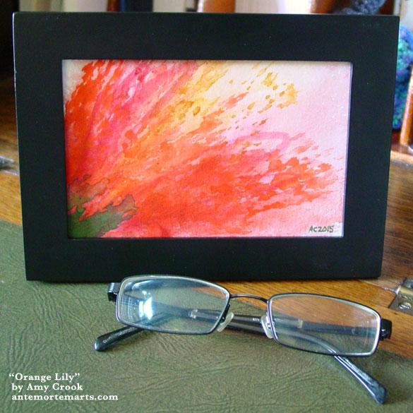 Orange Lily, framed art by Amy Crook