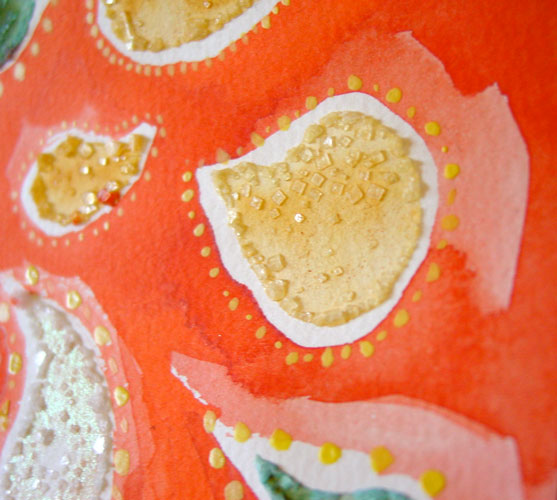 Orange Paisley, detail 2, by Amy Crook