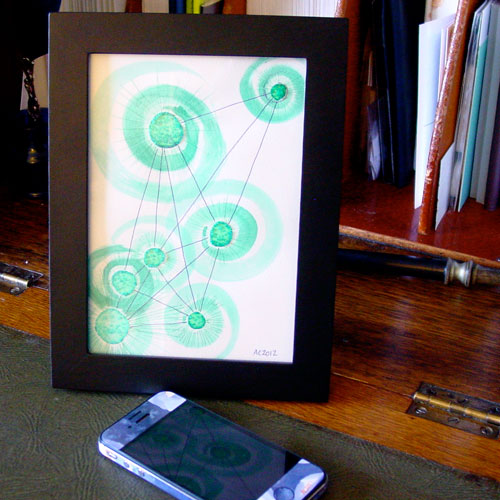 Outlier, framed art by Amy Crook