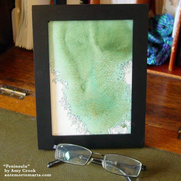 Peninsula, framed art by Amy Crook