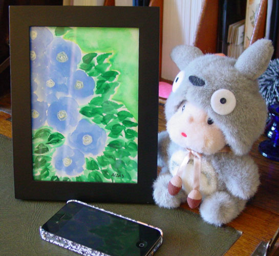 Periwinkle Flowers, framed art by Amy Crook