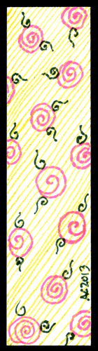 Pink Roses Bookmark by Amy Crook