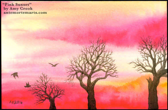 Pink Sunset by Amy Crook