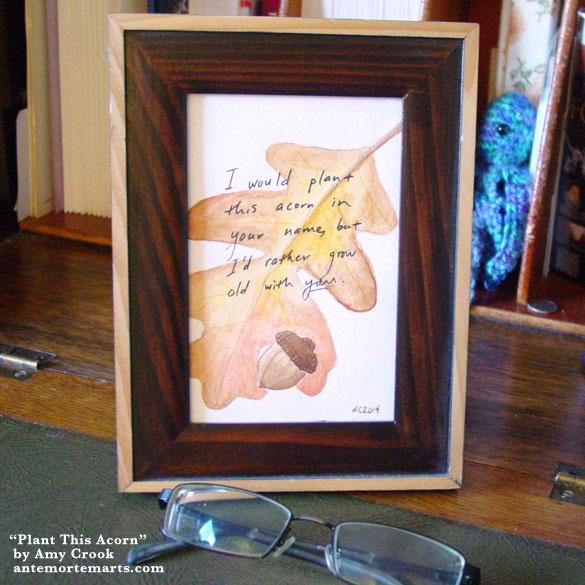 Plant This Acorn, framed art by Amy Crook