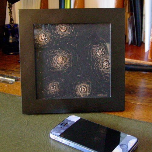 Positive Space, framed art by Amy Crook
