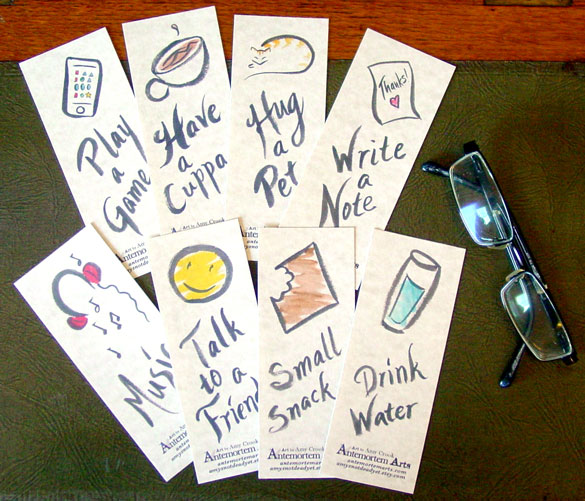 Power Up Bookmarks by Amy Crook on Etsy