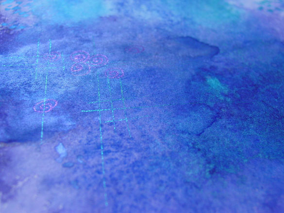 Blue Violet, detail, by Amy Crook