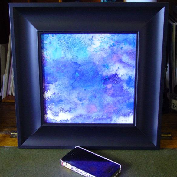 Blue Violet, framed art by Amy Crook
