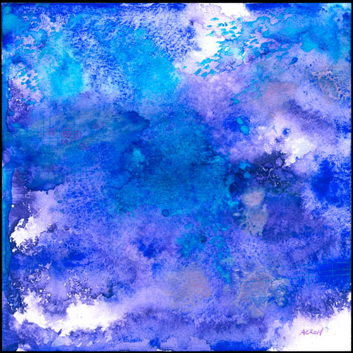 Blue Violet, abstract art by Amy Crook