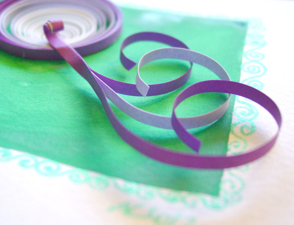 Q is for Quilling, detail, by Amy Crook
