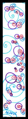 Bubble Queue Bookmark by Amy Crook