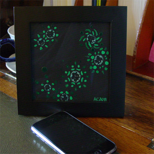 Radial Symmetry 2, framed art by Amy Crook