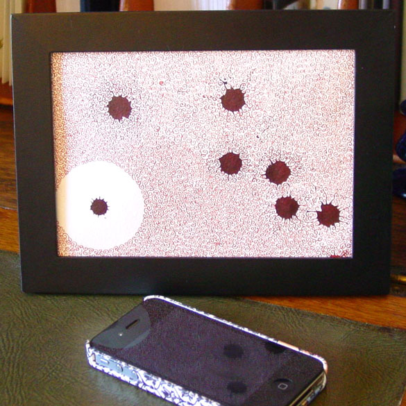 Red Wedding Decoration, framed art by Amy Crook