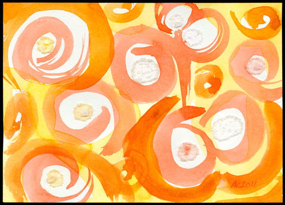 Rhymes With Orange, abstract art by Amy Crook