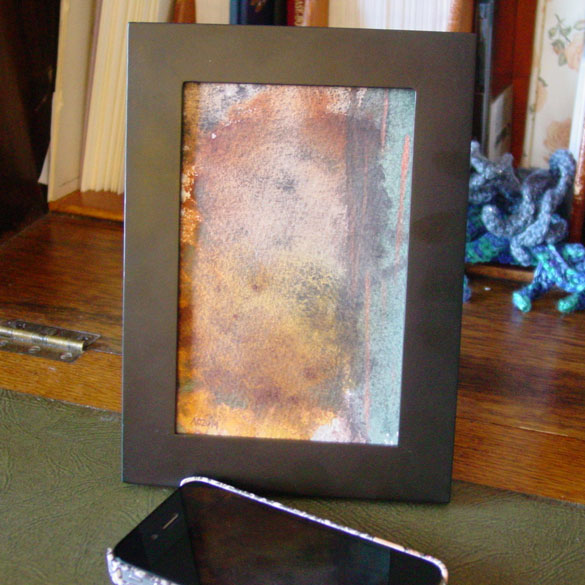 Roil, framed art by Amy Crook