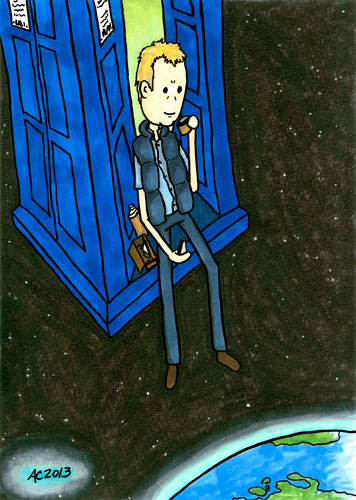 Lunch With a View, Doctor Who fan comic by Amy Crook