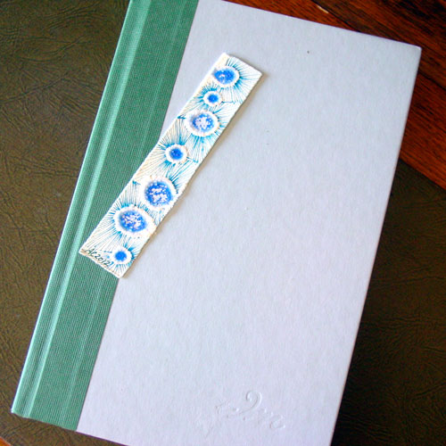 Salt Bookmark 4, with book, by Amy Crook