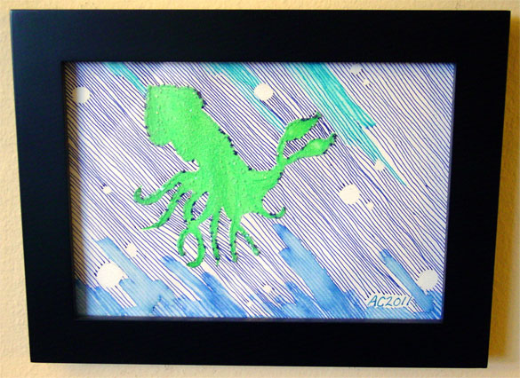 Salted Squid 2, framed, by Amy Crook