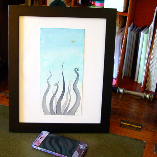 Seekers, framed, by Amy Crook