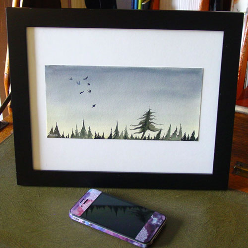 Seven for a Secret, framed art by Amy Crook