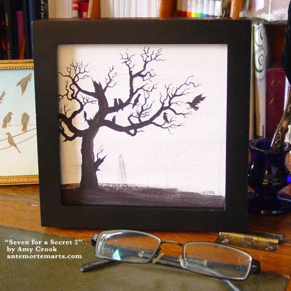 Seven for a Secret 2, framed art by Amy Crook