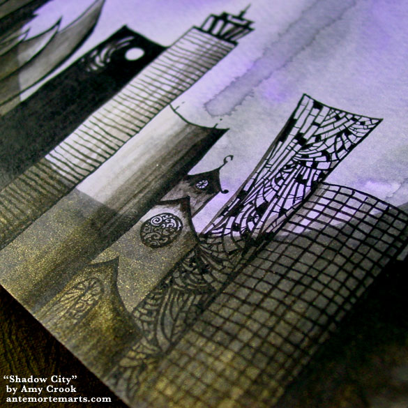 Shadow City, detail, by Amy Crook