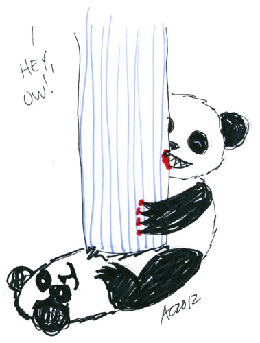 Sharpie Baby Panda Attack sketch by Amy Crook