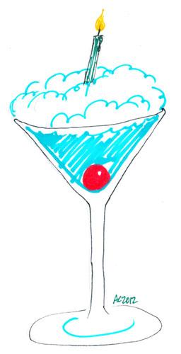 Sharpie Birthday Cocktail sketch by Amy Crook