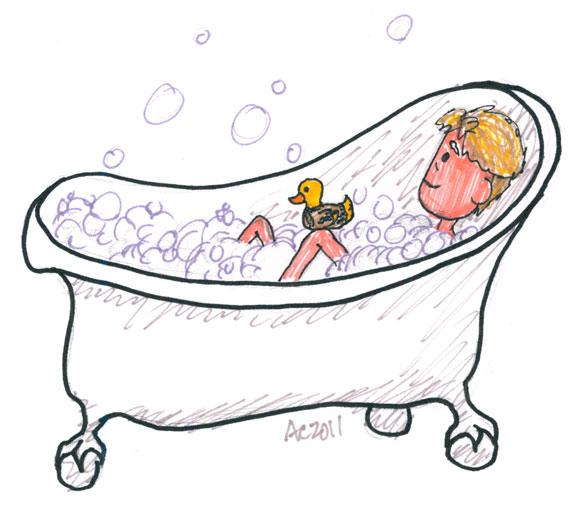 John's Bath Sharpie sketch by Amy Crook