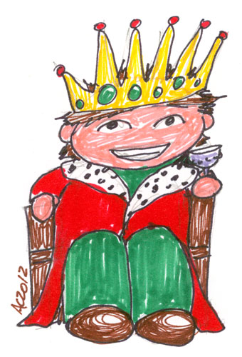 King of Cups Sharpie sketch by Amy Crook