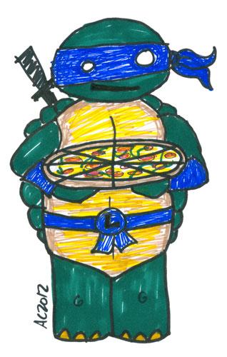 Sharpie Mutant Ninja Turtle sketch by Amy Crook