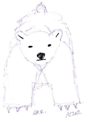 Sharpie Polar Bear sketch by Amy Crook