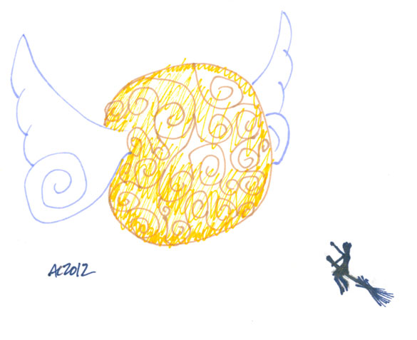 Sharpie Golden Snitch sketch by Amy Crook