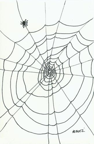 Sharpie Spiderweb sketch by Amy Crook