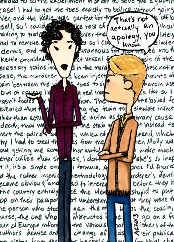 Non-Apology, a Sherlock comic by Amy Crook