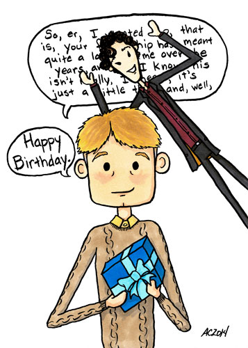 Birthdaybomb, a Sherlock parody comic by Amy Crook