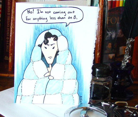 Sherlock in his Blankie blank card by Amy Crook on Etsy