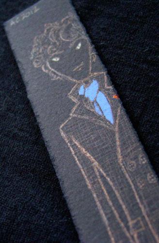 Sherlock Bookmark 3, detail, by Amy Crook