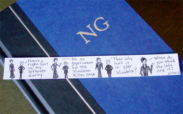 Sherlock Bookmark 4, with book, by Amy Crook
