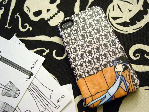 Sherlock Gelaskin iPhone Hardcase, art by Amy Crook