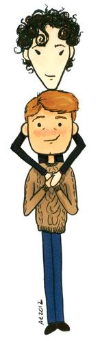 Sherlock Snuggle cartoon by Amy Crook