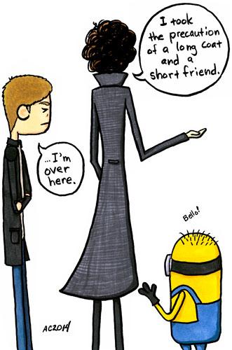 Short Friend, a Sherlock parody comic by Amy Crook